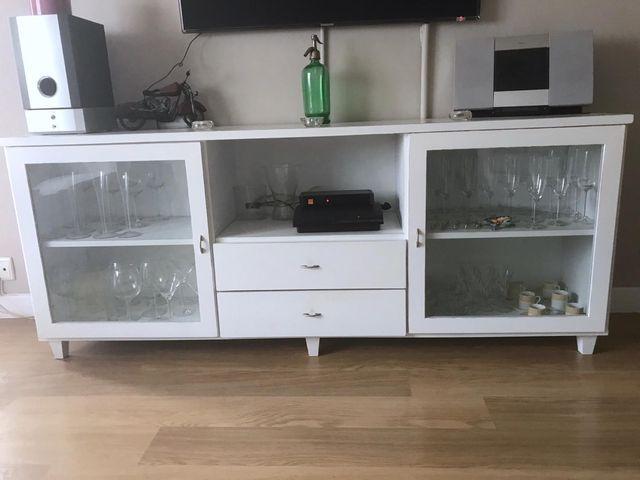 Mueble comedor blanco vintage 190x40x77 de segunda mano por 120 € en ...