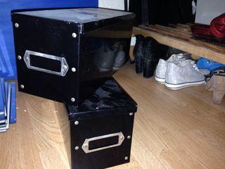 cajas metal negras *2