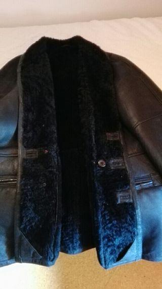 abrigo cuero autentico hombre