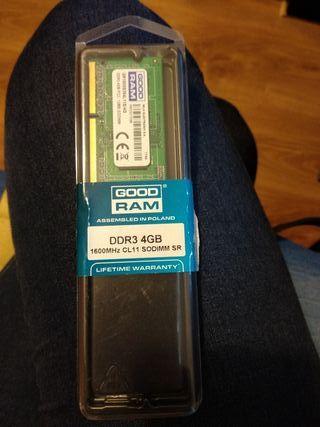 Memoria RAM Portátil DR3 4GB