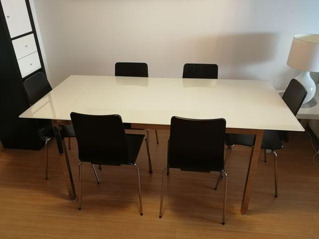 Mesa comedor Ikea Torsby con 6 sillas de segunda mano por 140 € en ...