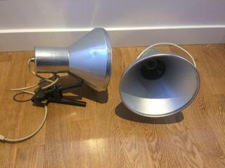 Lámparas industriales de pinza / flexos/ focos