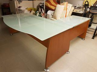 Mesa despacho cristal de segunda mano en wallapop - Mesa cristal despacho ...