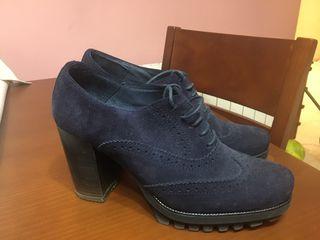 Zapato tacón azul Mimao