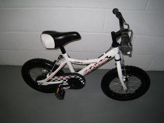 bicicleta niño BH California blanca 14 pultadas