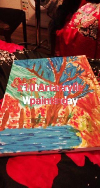 Autumn and Winter Artacrylic painting