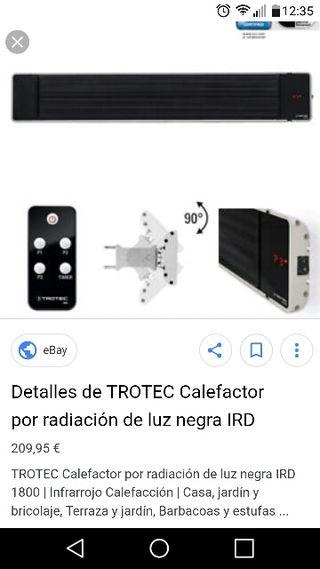 Calefactor, estufa, radiador de luz negra.