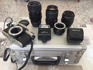 Equipo Fotografía cámara lentes.