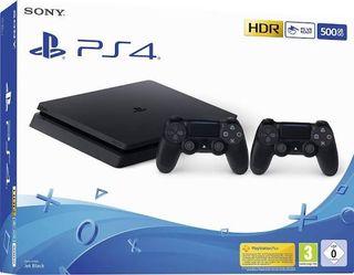 PlayStation 4 con dos mandos.