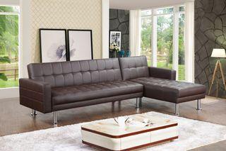 Sofa Chaise longue 16040s Marron