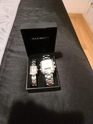 2 relojes de pulsera chaumont Quarz Diseño