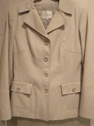 chaqueta gabardina talla 40 mujer