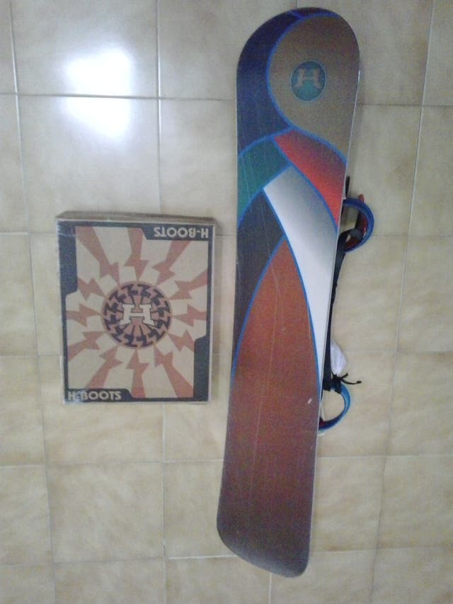 Tabla más botas snowboard freeride