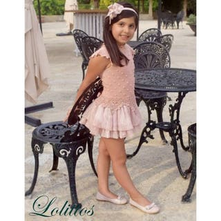 Vestido punto rosa Lolittos, talla 8a