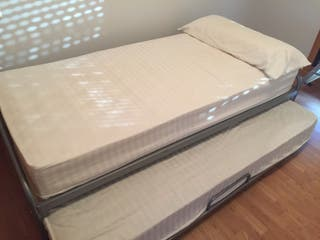 Estructura metalica cama doble 90x190