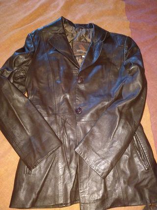 chaqueta auntentica de cuero mujer