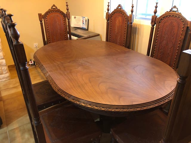 Conjunto mesa comedor salón con 8 sillas. de segunda mano por 750 ...