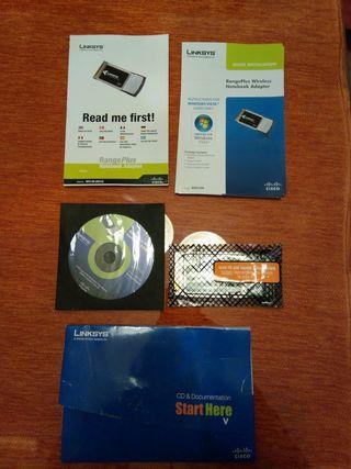 Tarjeta Wifi PCMCIA para portatil.