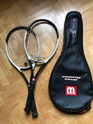2 Wilson Hyper Hammer raquetas