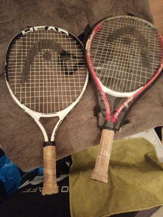 Raquetas de tenis pequeñas