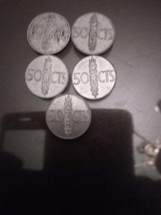 moneda 50 cents franco año 1966