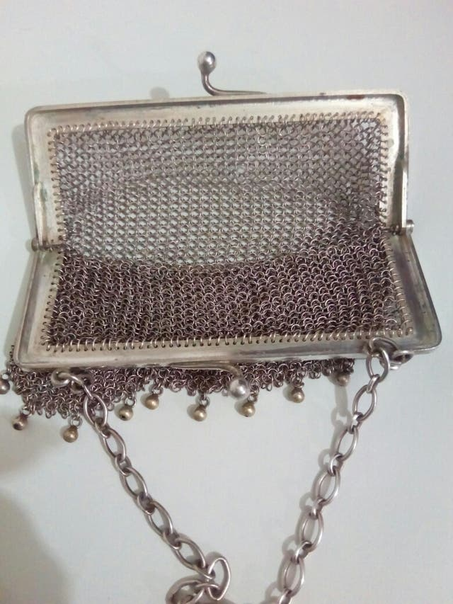 bolso de plata siglo XIX