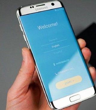 Samsung Galaxy S7 edge SM-G935V - 32GB - Silver Ti