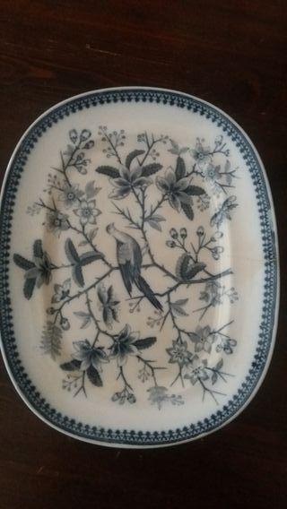 antiguo plato servir villeroy caza