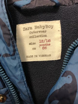 Abrigo zara niño talla 86 cm de 12 a 18 meses de segunda