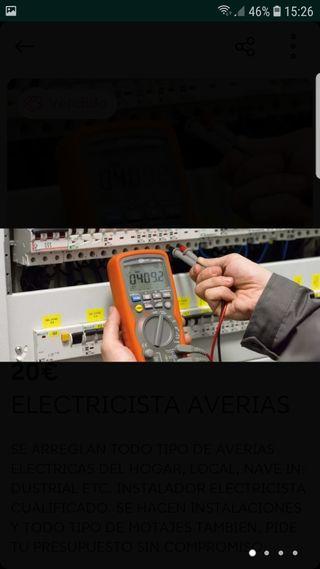ELECTRICISTA Y FONTANERO AVERIAS