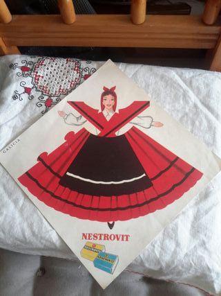 Antiguo cartel publicitario NESTROVIT ,Galicia