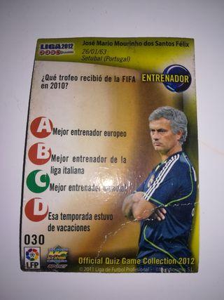 cromo liga 2012 José Mourinho Real Madrid