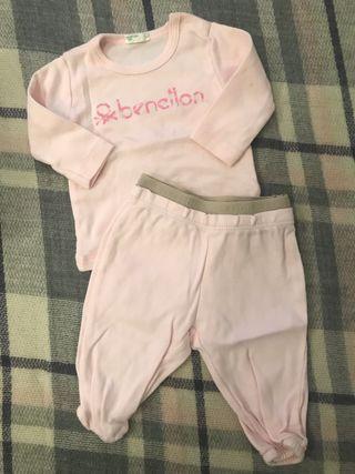 Conjunto bebé niña Benetton