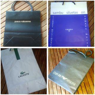 Bolsas regalo diversas marcas