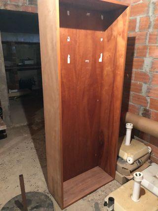 Armario sin puertas madera