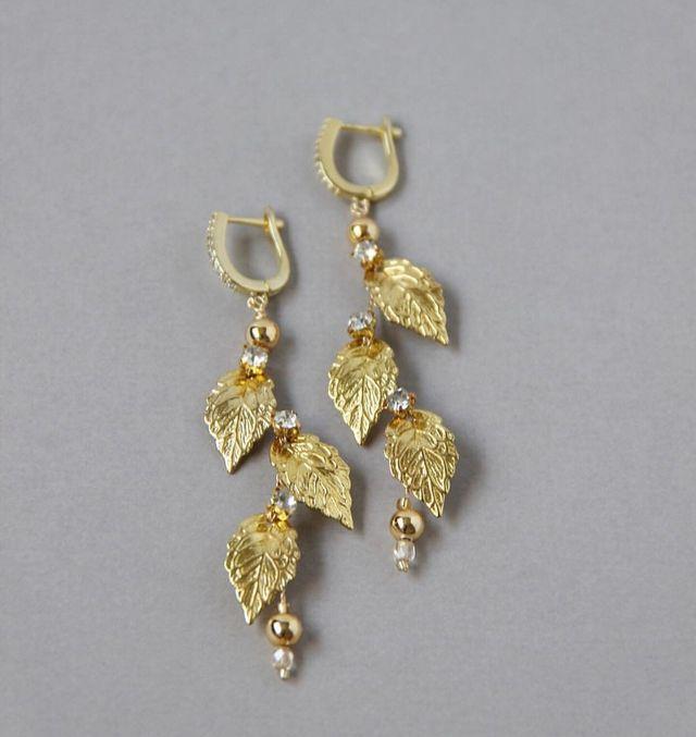 cba6428fab95 Pendientes para novia en color dorado Nuevos de segunda mano por 45 ...