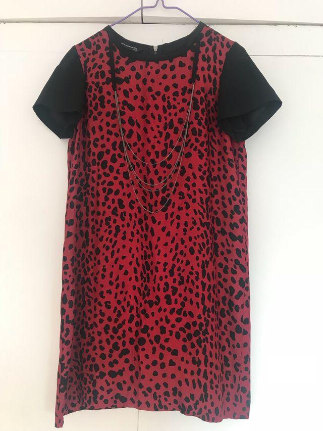 d299295818d Vestido estampado leopardo rojo T S de segunda mano por 20 € en ...