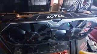 Tarjeta Gráfica Nvidia 1060 Zotac Amp! Edition 6gb