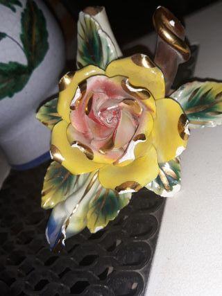 Flor porcelana antigua