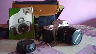 Canon Eos 300 analógica + objetivo 28-80 y funda