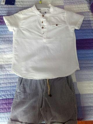 camisa y pantalón talla 4-5