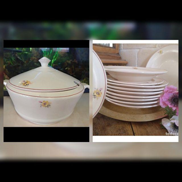"""Antigua vajilla de porcelana"""" oviedo """""""