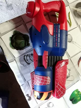 Pistola de agua de spider-man.