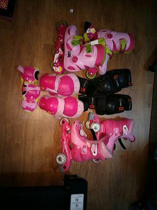 conjunto patines y protecciones.