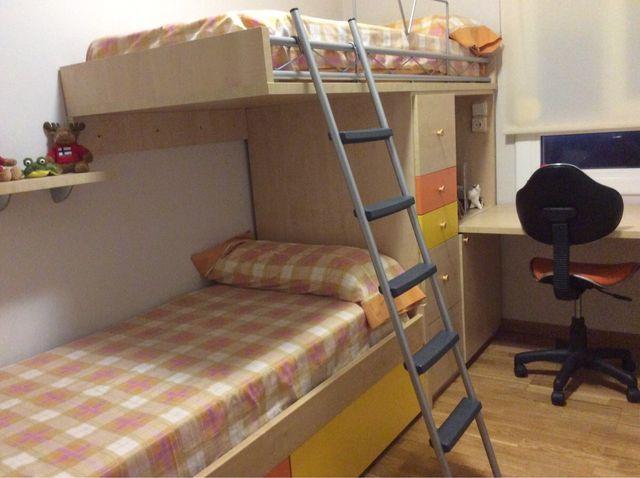 Habitaci n litera con mesa escritorio f cil mobel de - Habitacion con litera ...