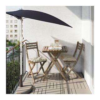 Conjunto mesas y sillas madera terraza jardin de segunda for Conjunto de mesa y sillas para terraza