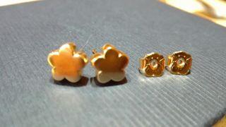 pendientes tous oro .flor.originales