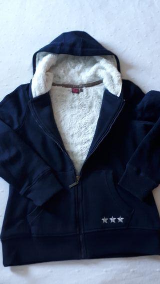 Sudadera cremallera de abrigo talla S /16 años