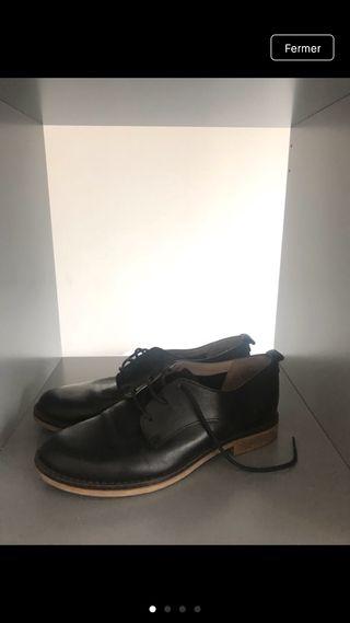 Chaussures cuir lacets femme San Marina 36