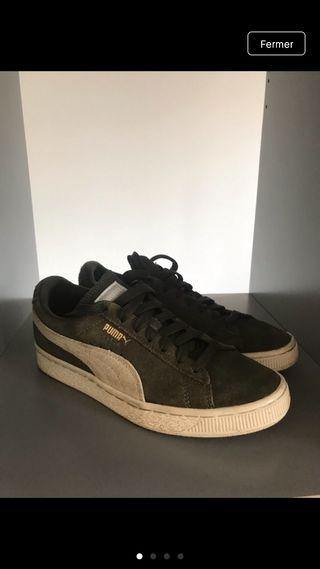 Baskets sneakers Puma kaki femme 37